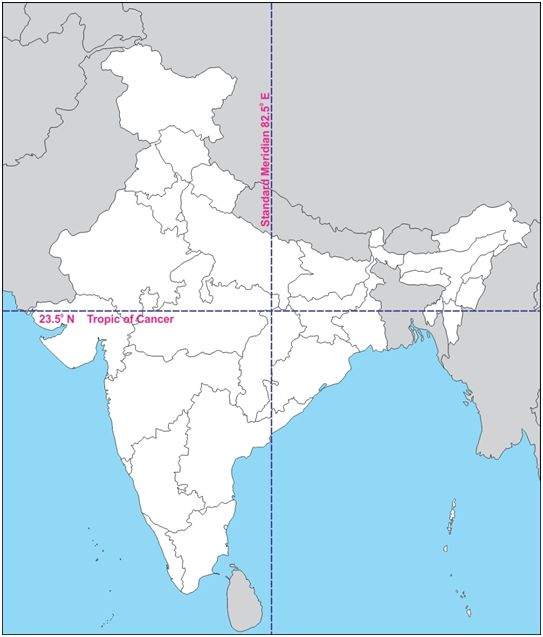 What are the 5 states in India through which standard ...