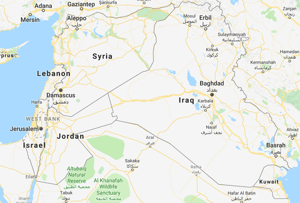 Iraq borders Israel. If the US invaded Iraq, they could just go ...