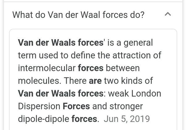What is Van der Waals force? - Quora