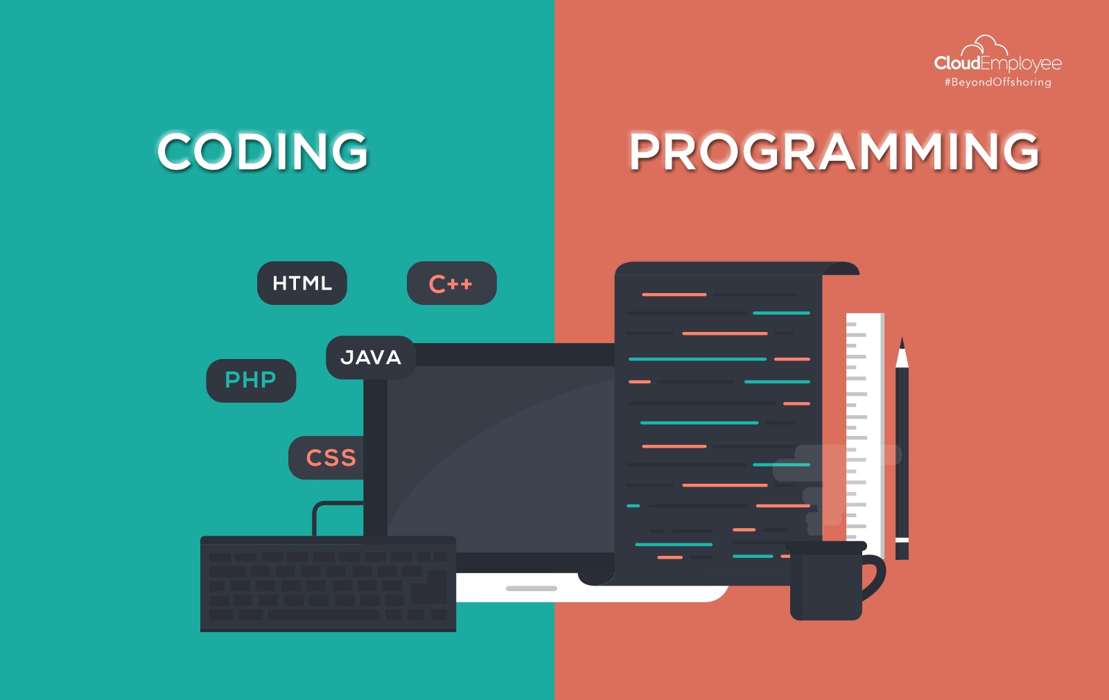 The obvious disparity between coding and programming