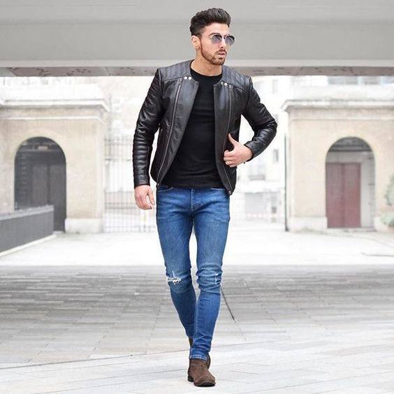Can I wear blue jeans with a black jacket? - Quora