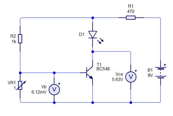 What would be a circuit connection diagram to operate a BC548 (NPN
