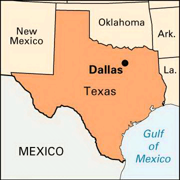 Simple Texas Map