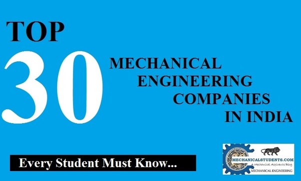 What Are Top 50 Mechanical Engineering Companies In India