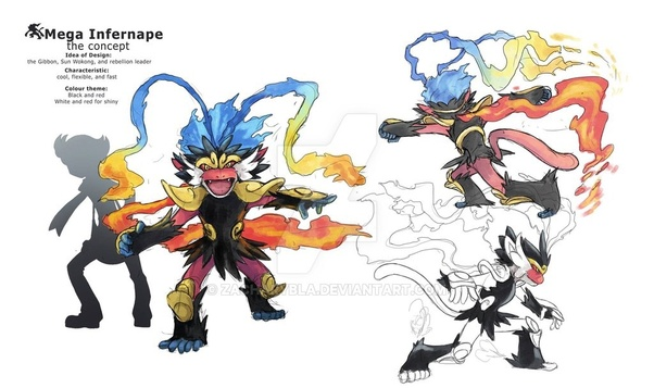how would a mega infernape be introduced in pokemon what would it