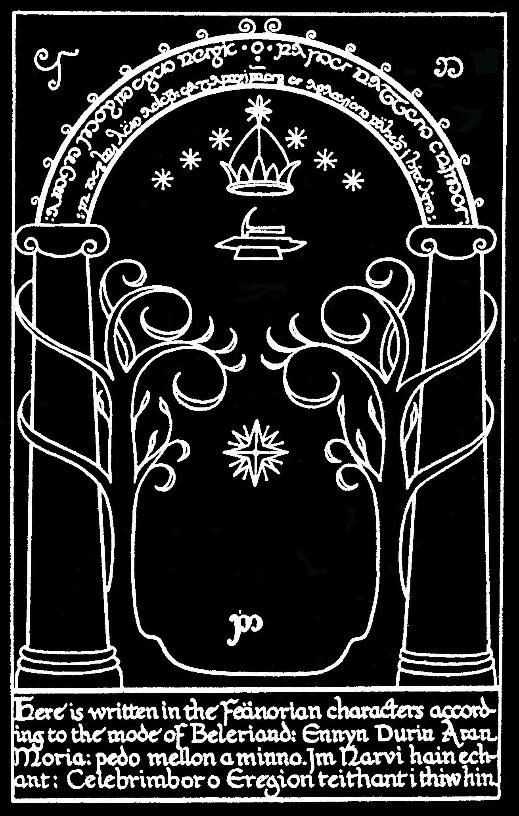 The name Moria translates as u201cBlack Chasmu201d and is considered a derogatory term and was given after the Balrog known as Durinu0027s Bane took over the city ...  sc 1 st  Quora & Why does the translation of the Elvish inscription on the doors of ...