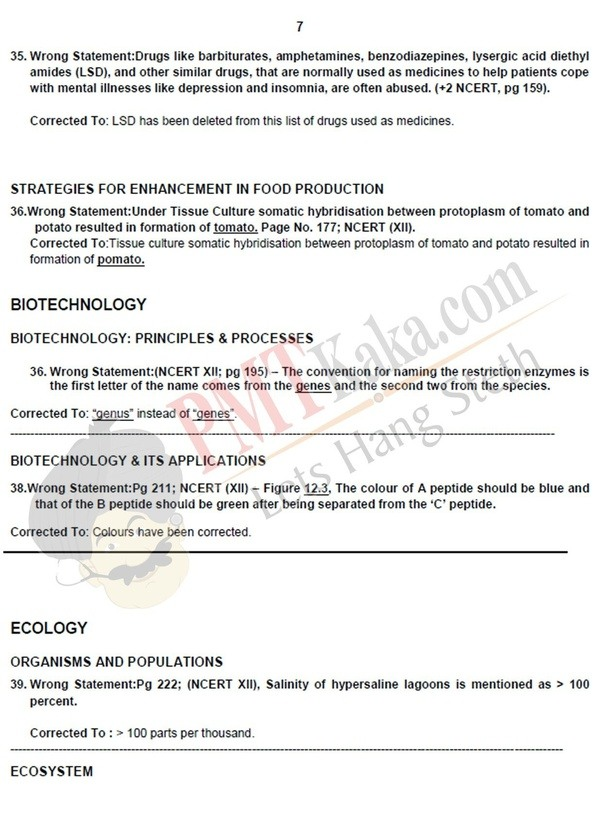 NCERT BIOLOGY CORRECTIONS EPUB DOWNLOAD