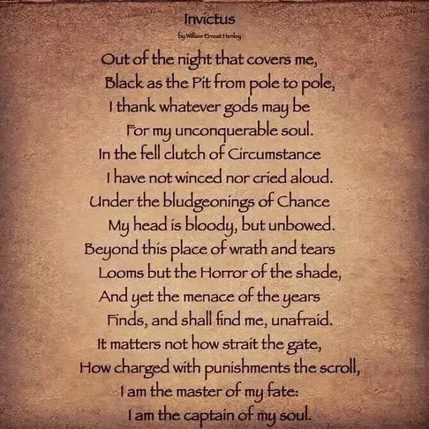 Invictus Gedicht