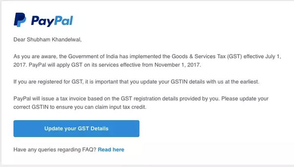 PayPal Has Started Charging GST For Its Services What Should - Paypal invoice fee