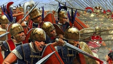 If a spear has a longer range than a sword, why were the Romans so