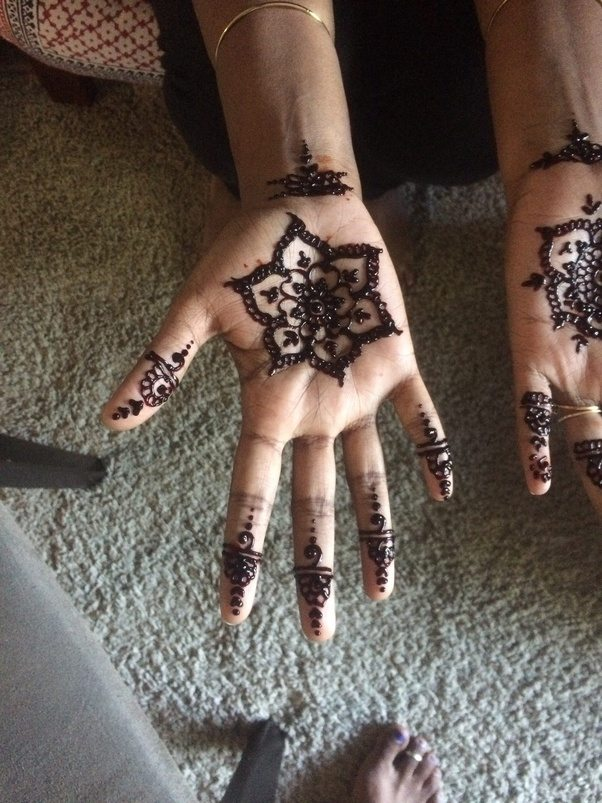 The Most Easy Way To Practice Henna Design Is Draw A Sequence Patten That Just Flows Across Your Palm Towards Tip Of Fingers Easiest Being