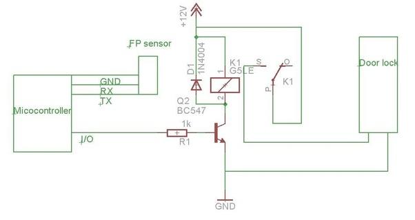 How to make finger print lock sensor in home - Quora House Door Lock Schematic Diagram on