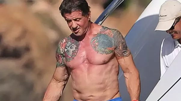 Did Sylvester Stallone really lift the cart wheel up in ...