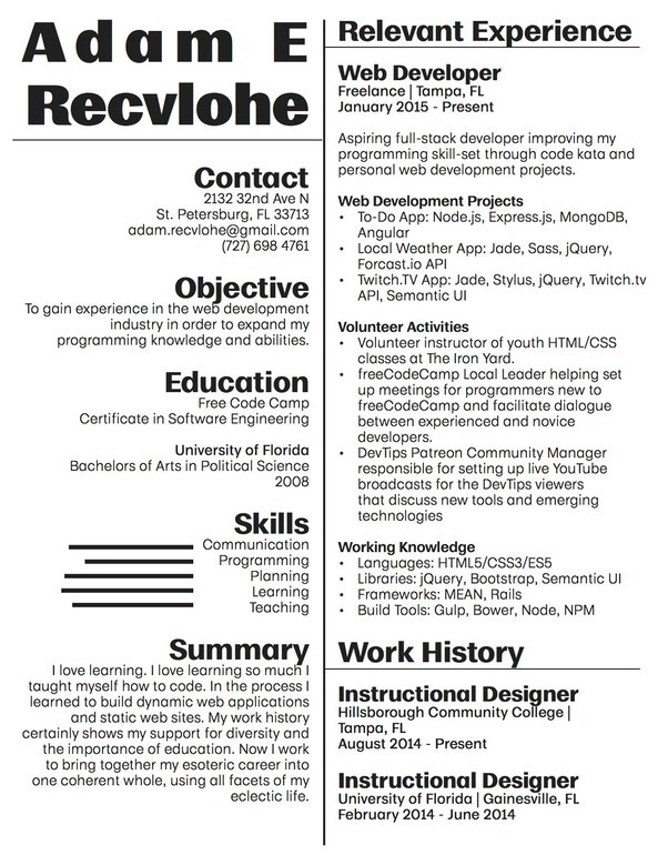 Below Is My Resume When I Didnu0027t Have Any Experience In The Field.