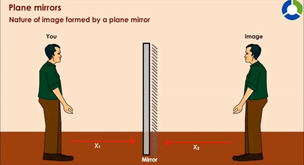 An Object Is Placed 0 5 Meters Away From A Plane Mirror