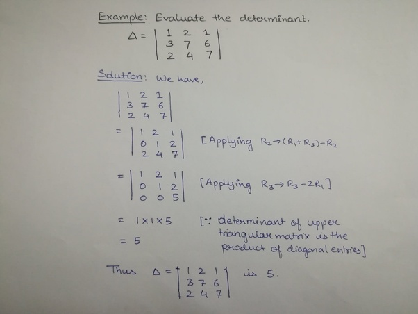 How to solve the determinant without expanding it - Quora