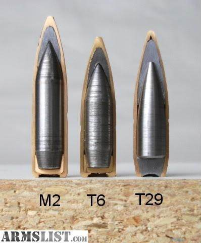 armor penetration of 50 bmg vs other rounds