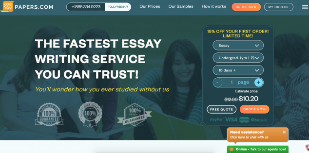 website that writes essays for you for free