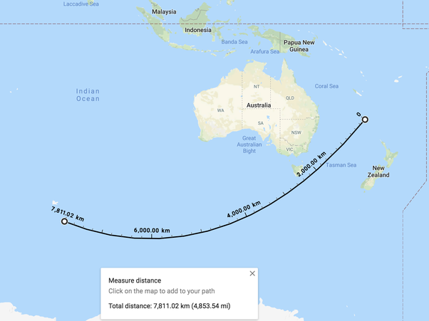 how to find distance between two places