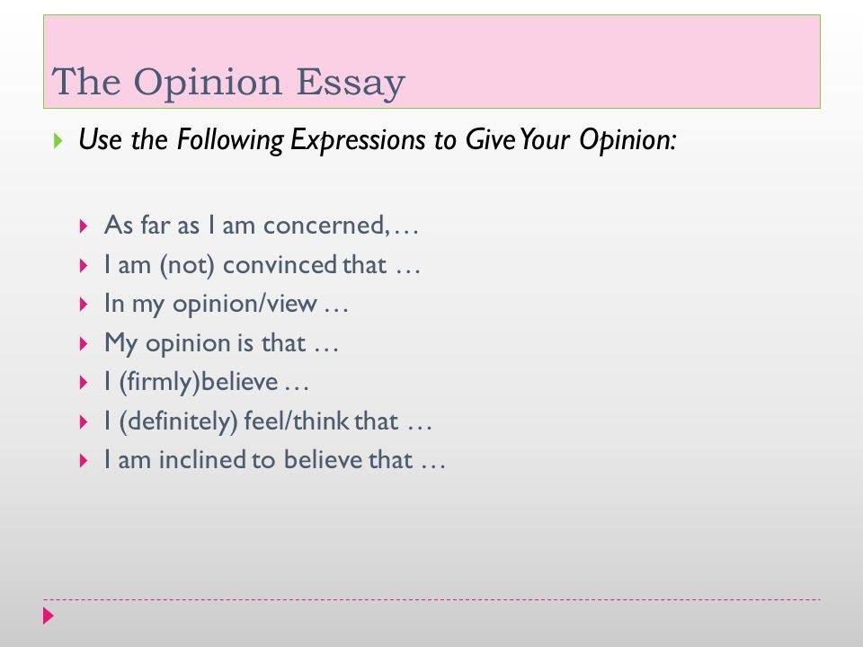 Can you write 'I' or 'in my opinion' in an essay? - Quora