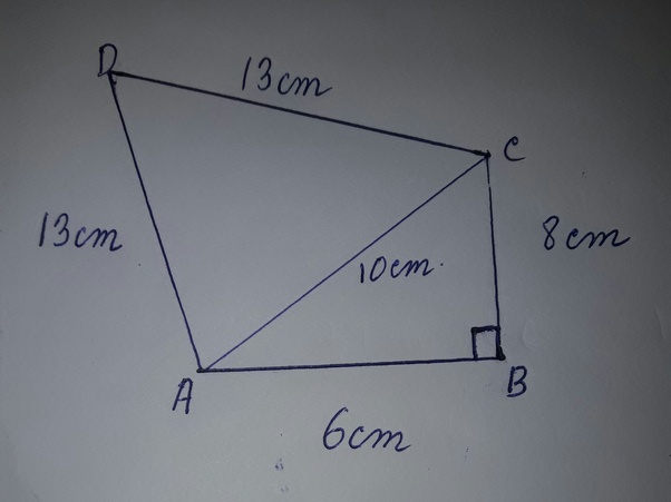 What is the area of the quadrilateral abcd in which angle b90 ab i have divided the quadrilateral for the sake of simplicity of calculations ccuart Image collections