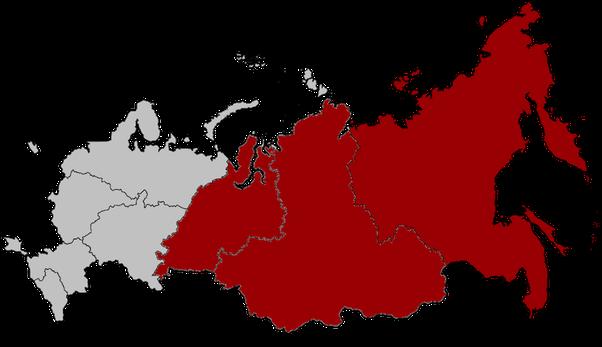 European russia and asian russia