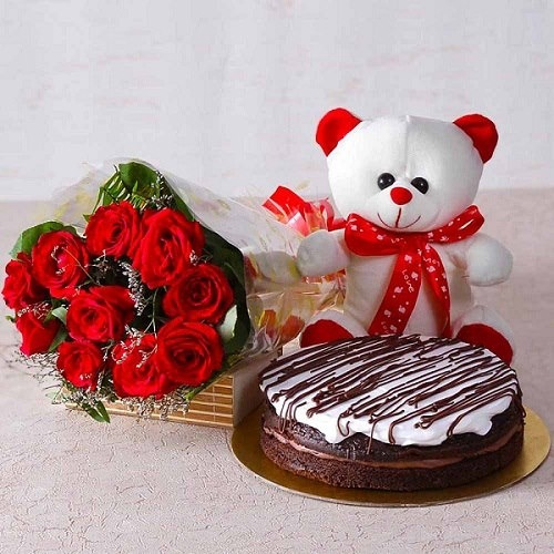 If You Really Want To Surprise Your Boyfriend Then I Would Suggest Book A Midnight Cake Delivery With Fresh Flower Bouquet For Him And Send Online