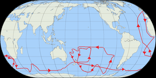 Could circling antarctica by boat while measuring the distance if you look at those loops they both cross back into the tropics gumiabroncs Choice Image