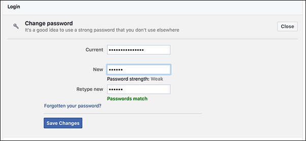 Password facebook accept will not my How can