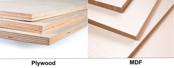 What is the difference between plywood mdf in cabinet