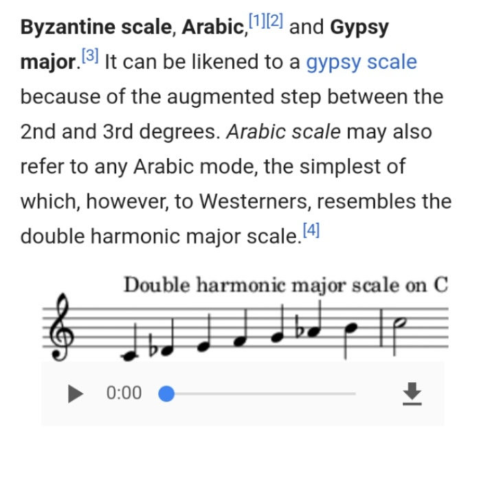 What musical scale is it when you take the harmonic minor