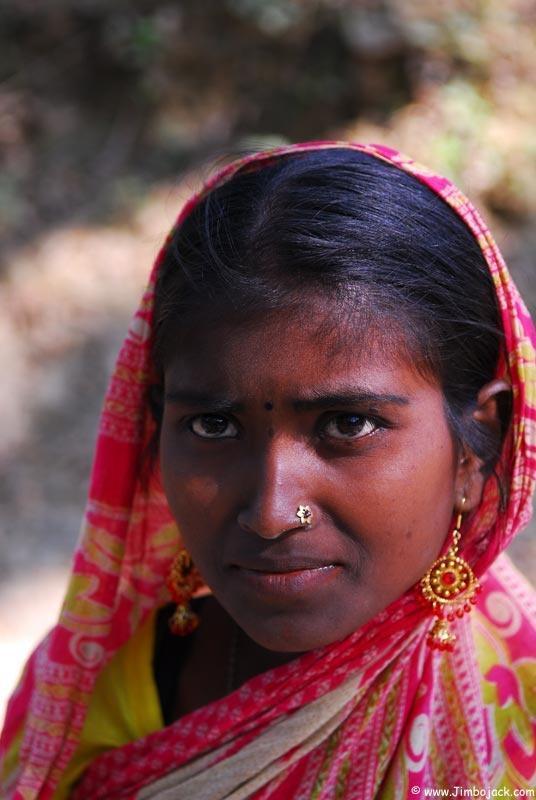 Dark south indian people