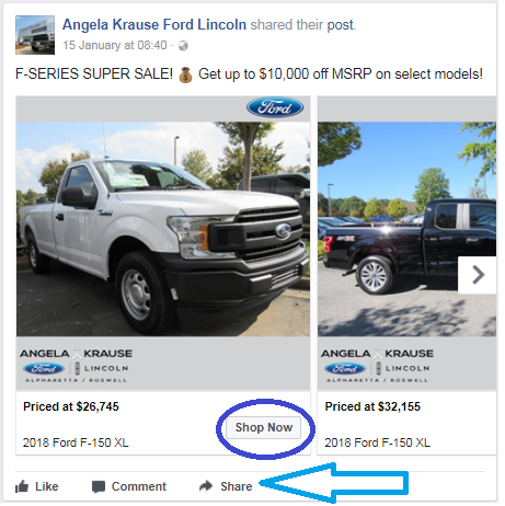 What are good examples of car dealerships using social media?