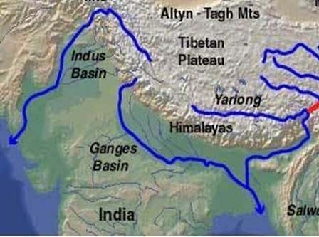 ... Indus And Bramhaputra Does Not Originate From Himalaya, They Are Trans  Himalayan Rivers And Is Thought To Be Present Before Himalayan Upliftment  Occur.