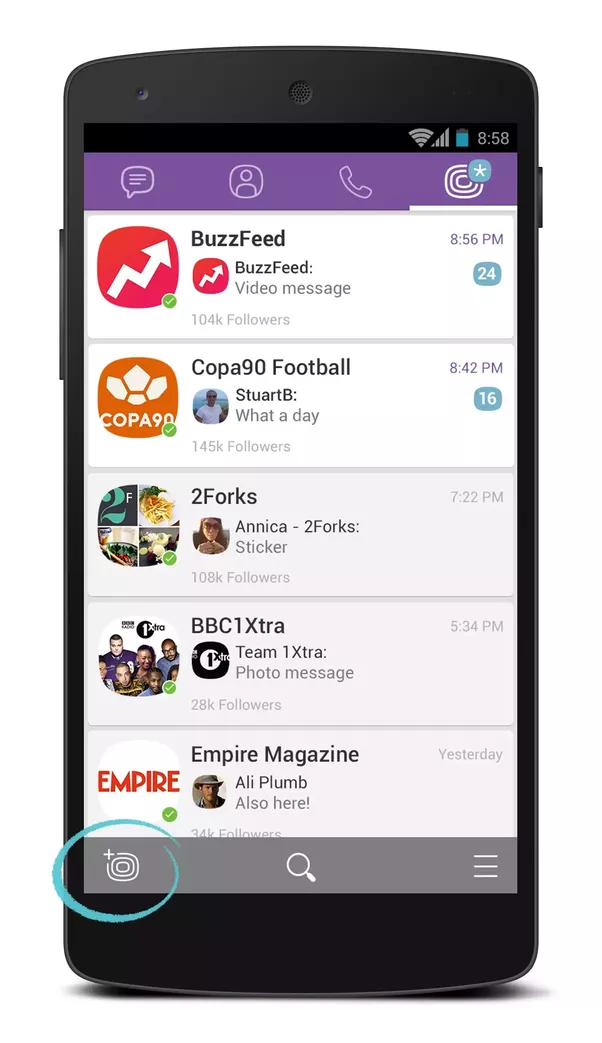 How to create public account in viber