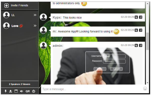 regional chat room
