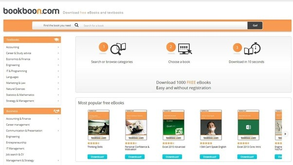 Which are the best sites to download pdf books free quora a screenshot of the bookboon homepage fandeluxe Images