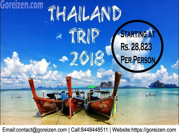 Can I travel to Thailand from India in 50000 rupees only