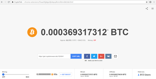 Can I really earn Bitcoin by installing a Crypto Tab extension to