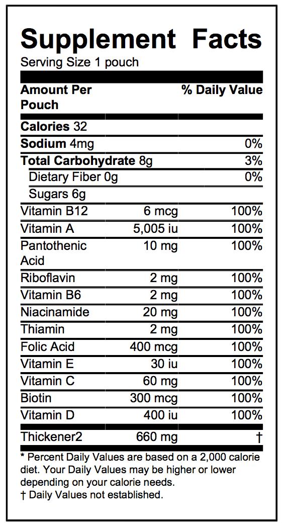 Babykixx sprout formulation supplement facts
