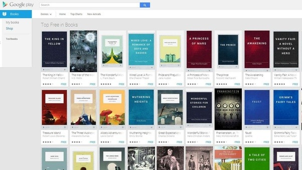 Which are the best sites to download pdf books free quora a screenshot of the google ebookstore homepage fandeluxe Image collections