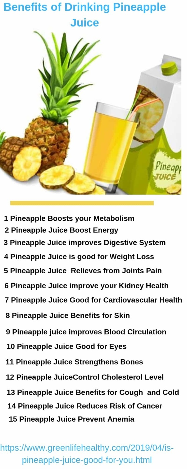 what are the benefits of drinking pineapple juice twice