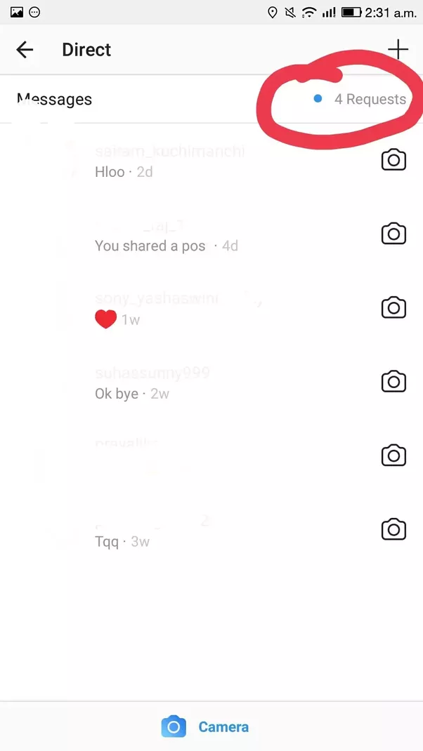 How to see my instagram message requests from others quora 2ter opening that arrowagain on the top right we can see message requests option ccuart Gallery