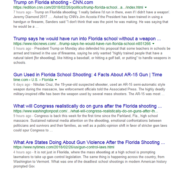Why's the school shooting in Florida getting so much more