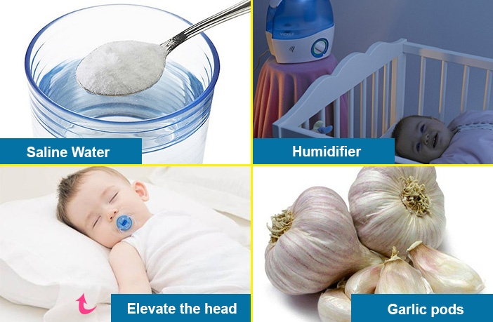 What are the home remedies for coughs and colds in babies