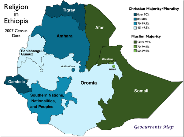 What is the difference between Ethiopia, Somalia and the