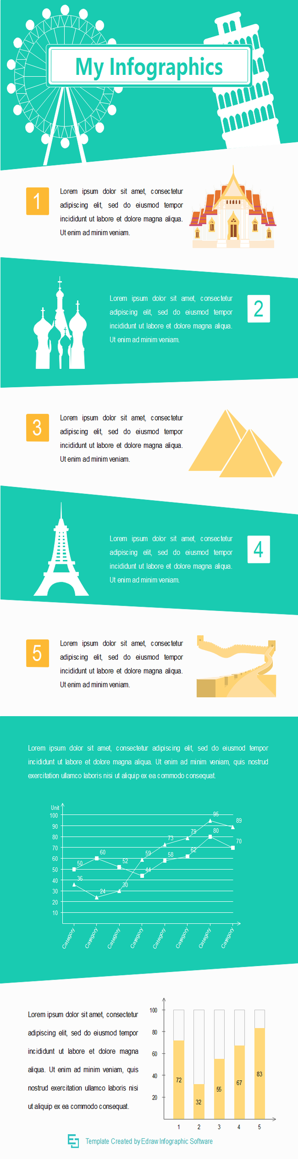travel destination infographic template