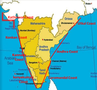 What are the coastal plains in India Quora