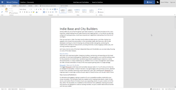 What are the free alternatives to Google Docs for