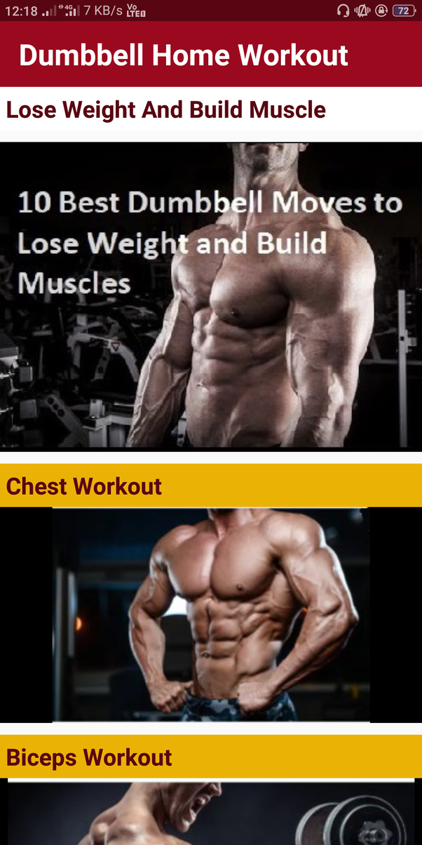 What is the best workout to do at home with dumbbells only